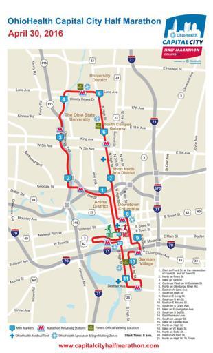 Cap City course map