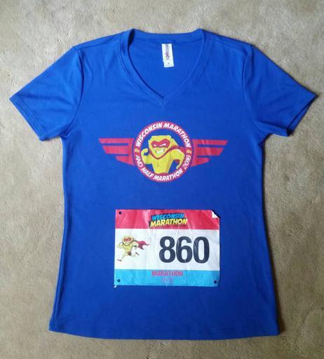 Wisconsin Marathon shirt