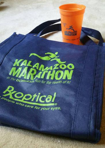 Kalamazoo Marathon Bag and Cup