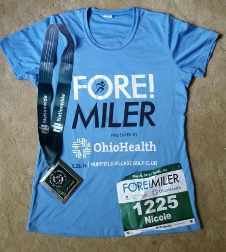 Fore Miler Shirt and Medal