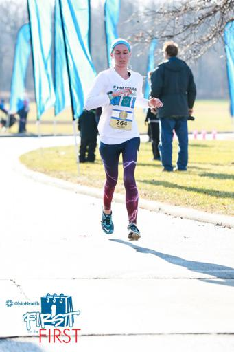 First on the First 5k Finish line