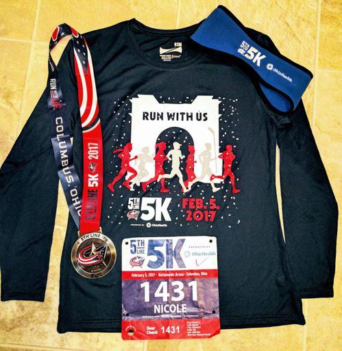 5th Line 5k 2017 Shirt, Medal
