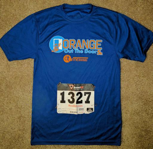 Orange out the Door 5k Shirt 2017