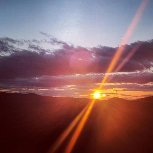 Georgia Sunset with Mountains