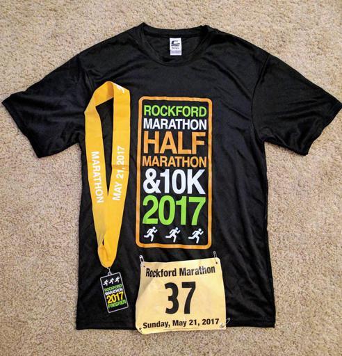 Rockford Marathon Shirt Medal 2017