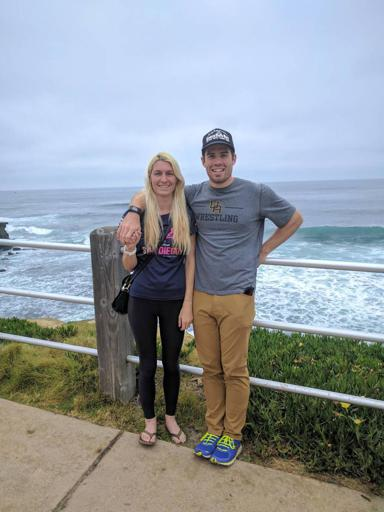 James and I in La Jolla