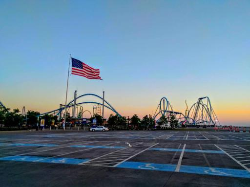 Sunrise over Cedar Point