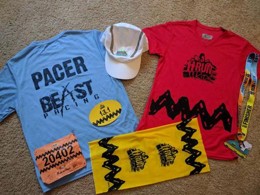 Cedar Point Run and Ride Race Gear and Swag June 2017