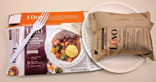 Luvo Inc. Frozen Meals Red Wine Braised Beef & Polenta