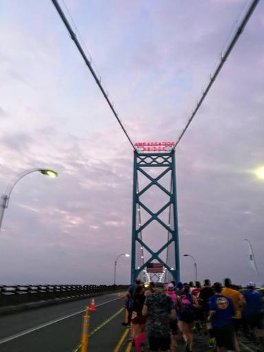 Detroit Marathon Ambassador Bridge 2017