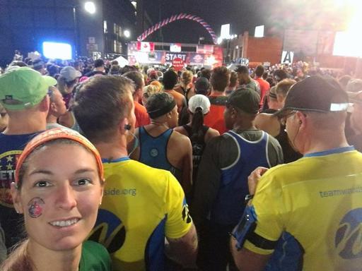 Detroit Marathon Start Line 2017