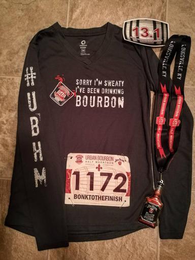 Urban Bourbon Half Marathon Shirt, Medal, Bib, Sticker 2017