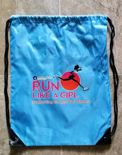 Run Like a Girl Columbus Race Drawstring Bag 2017