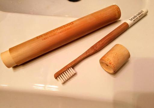 Brush Naked White Blanc with Plant-Based Bristles with Bamboo Toothbrush Case