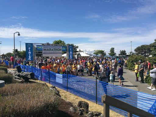 North Olympic Discovery Marathon 2018 Kids Race Start