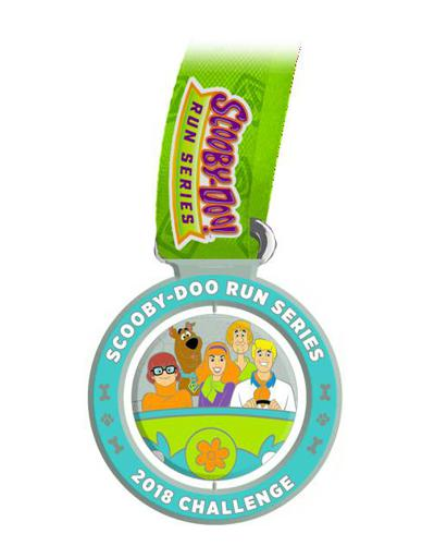 2018 5k/10k Scooby Doo Virtual Run Series Challenge Medal Swag