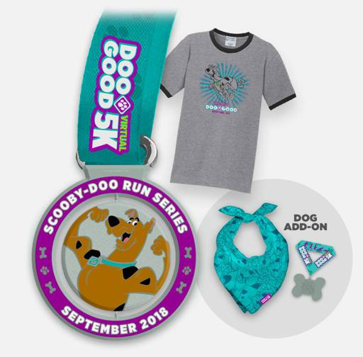 2018 Doo Good 5k Scooby Doo Virtual Run Series Swag