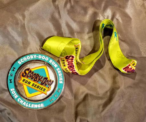 2018 Scooby Doo Virtual Run Series Part Two Swag Challenge Medal